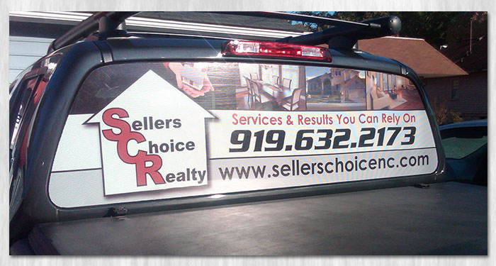 window perf vehicle graphic printing